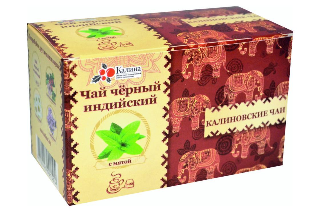 Чай черный индийский с мятой
